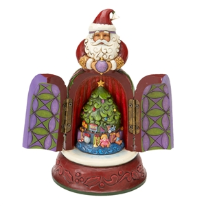 Jim Shore Santa with Hidden Scene Figurine, 4016075