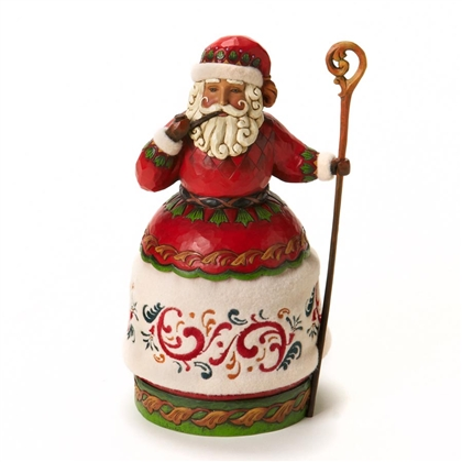 Heartwood Creek Santa with Pipe and Cane Figurine by Jim Shore, 4018413