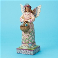 Heartwood Creek Angel with Easter Basket Figurine by Jim Shore, 4020611