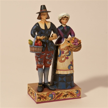 Heartwood Creek Pilgrim Couple Figurine By Jim Shore