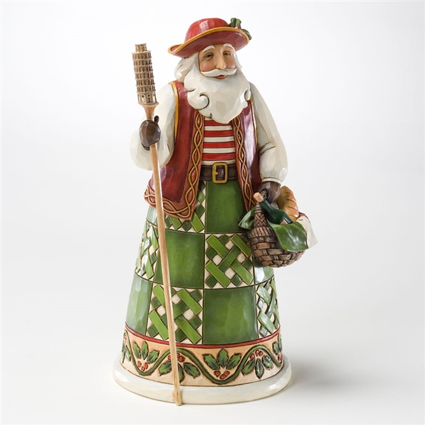 Heartwood Creek Santa's Around The World, Italian Santa Figurine | 4022915