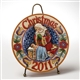 Christmas 2011 Santa/Jesus Plate & Stand - Jim Shore, Heartwood Creek 4023459