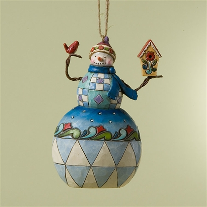 Heartwood Creek Snowman with Cardinal and Birdhouse Ornament by Jim Shore, 4023465