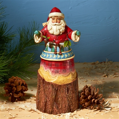 Heartwood Creek Lodge Santa Claus with Garland Figurine by Jim Shore, 4024280