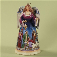 Heartwood Creek Angel with Nativity Scene Figurine by Jim Shore, 4027718