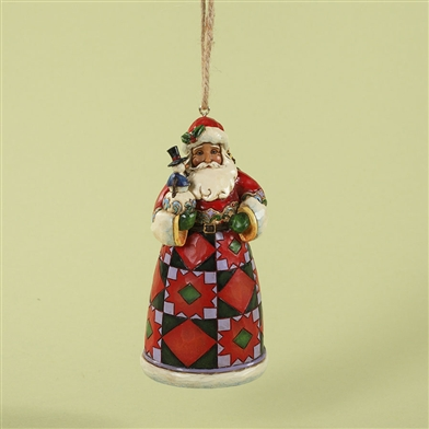 Santa with Snowman Tree Ornament - Jim Shore / Heartwood Creek, 4027726