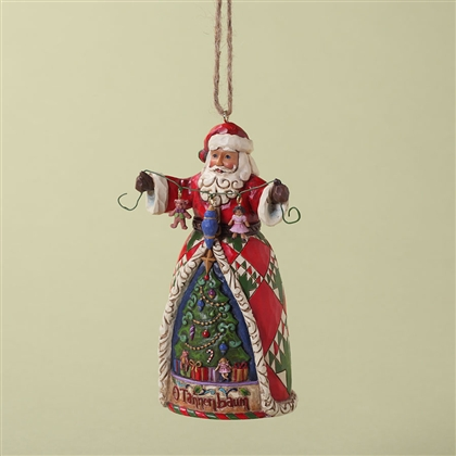 Heartwood Creek Santa Holding Christmas Decorations Ornament by Jim Shore, 4027741