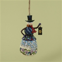 Heartwood Creek Snowman with Lantern Ornament by Jim Shore 4027751