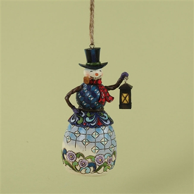Snowman with Lantern Ornament - Jim Shore / Heartwood Creek, 4027751