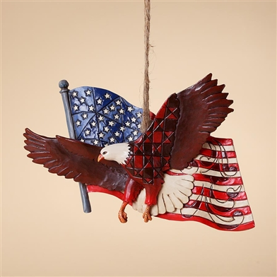 Eagle with Flag Ornament - Jim Shore / Heartwood Creek, 4027753