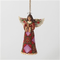 Heartwood Creek Praying Angel Hanging Ornament by Jim Shore