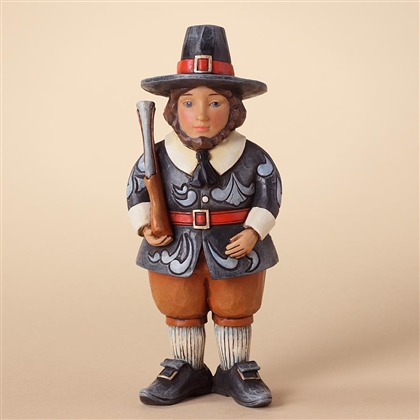 Heartwood Creek Pint-sized Pilgrim with Musket Figurine by Jim Shore, 4027803