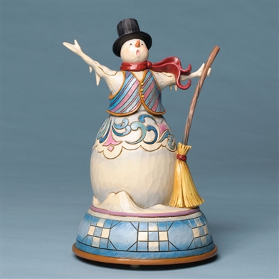 Singing Snowman Musical Figurine - Jim Shore, Heartwood Creek, 4032485