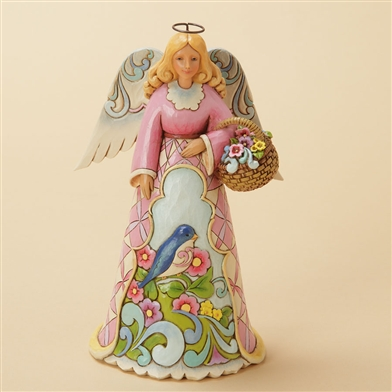 Spring Angel with Bluebird - Jim Shore / Heartwood Creek Figurine, 4033821