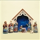 9-Piece Mini Nativity Figurine Jim Shore Heartwood Creek, 4034382