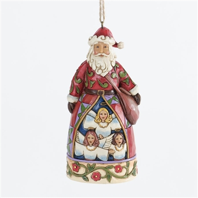 Santa With Angels Scene Ornament Jim Shore Heartwood