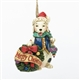 Christmas Dog with Wreath Ornament - Jim Shore, Heartwood Creek, 4034409