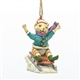 Christmas Cat on Sled Ornament - Jim Shore, Heartwood Creek, 4034410