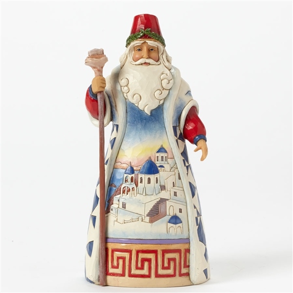 Heartwood Creek Around The World Santa's Greece Figurine by Jim Shore | 4041069