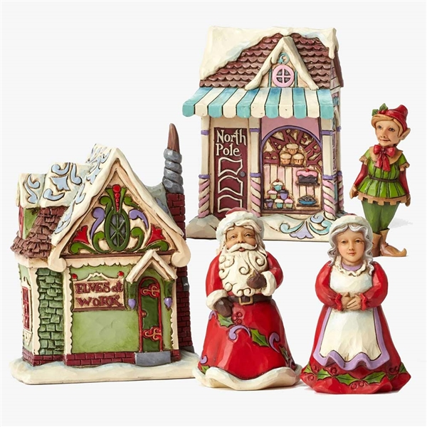 Heartwood Creek Santa's Village Figurine Set by Jim Shore, 4044516
