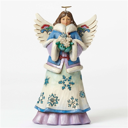 Heartwood Creek Angel Winter Wonderland  Collection Figurine by Jim Shore