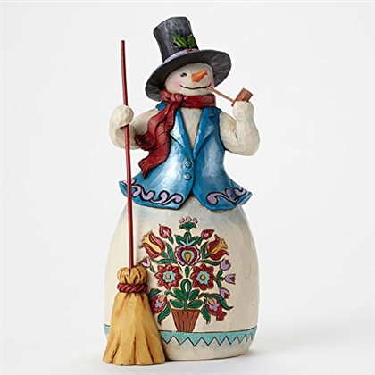 Heartwood Creek Snowman with Pipe Figurine by Jim Shore 4047659