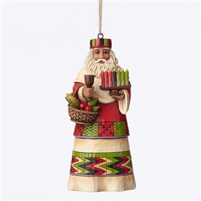 Heartwood Creek African Santa Around World Christmas Ornament, 4047790