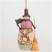 Heartwood Creek Winter Scene Snowman Ornament by Jim Shore, 4047793