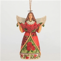 Heartwood Creek Poinsettia Angel Ornament by Jim Shore, 4047795