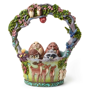 Heartwood Creek Woodland Basket with 4 Eggs