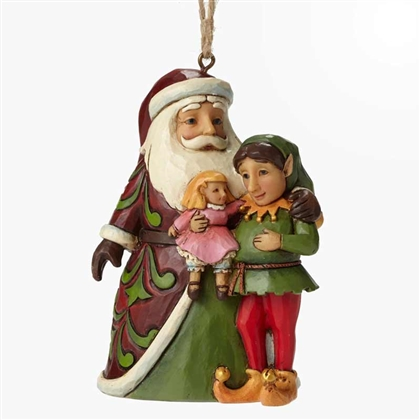 Heartwood Creek Santa with Elf Ornament by Jim Shore 4049409
