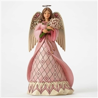 Heartwood Creek Breast Cancer Awareness Angel Figurine by Jim Shore