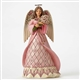 Heartwood Creek Breast Cancer Awareness Angel hanging ornament by Jim Shore 4049413