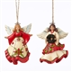 Heartwood Creek Set of 2 Angel Hanging Ornaments by Jim Shore