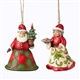 Heartwood Creek Set of 2 Mr. & Mrs. Santa Hanging Ornaments by Jim Shore