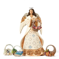 Heartwood Creek Four Seasons Angel with Basket Set Figurine by Jim Shore