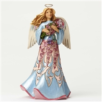 Heartwood Creek Angel with Springtime Flowers Figurine by Jim Shore, 4051434