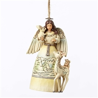 Heartwood Creek White Woodland Angel Hanging Ornament by Jim Shore