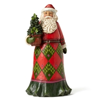 Heartwood Creek Santa with Evergreen Figurine by Jim Shore 4053706