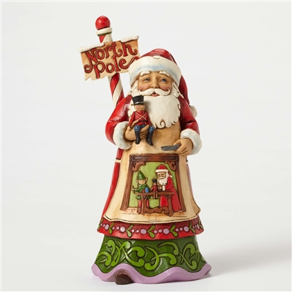 Heartwood Creek North Pole Santa with Workshop Scene Figurine by Jim Shore 4053707
