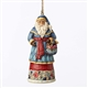 Heartwood Creek Santa with Basket Hanging Ornament by Jim Shore 4053831