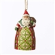 Heartwood Creek Santa with Toybag Hanging Ornament By Jim Shore