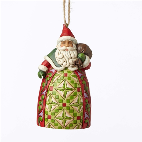 Heartwood Creek Santa with Toy bag Hanging Ornament By Jim Shore 4053835