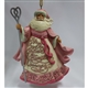 Heartwood Creek Santa Breast Cancer Awareness Hanging Ornament by Jim Shore