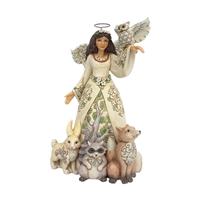 Heartwood Creek Woodland Angel with Spring Scene Figurine by Jim Shore