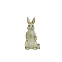 Heartwood Creek White Woodland Bunny Figurine by Jim Shore 4056969