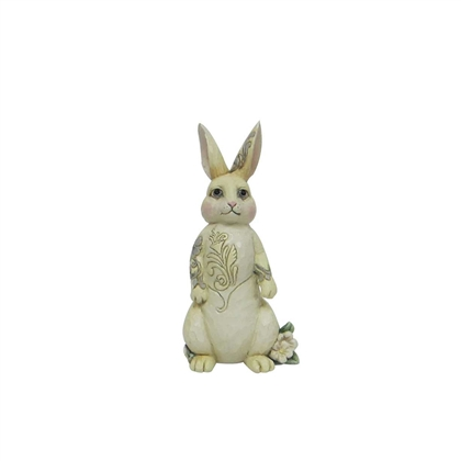 Heartwood Creek White Woodland Bunny Figurine by Jim Shore