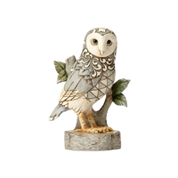 Heartwood Creek White Woodland Owl Figurine by Jim Shore