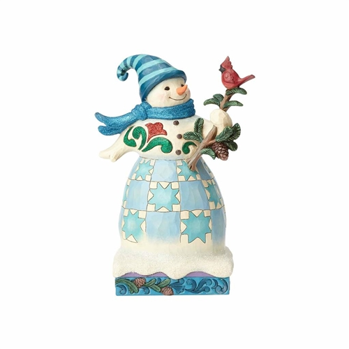 Heartwood Creek Wonderland Snowman with Cardinal 4058745