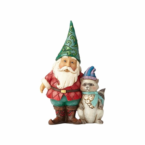 Heartwood Creek Wonderland Santa Gnome with Raccoon 4058746